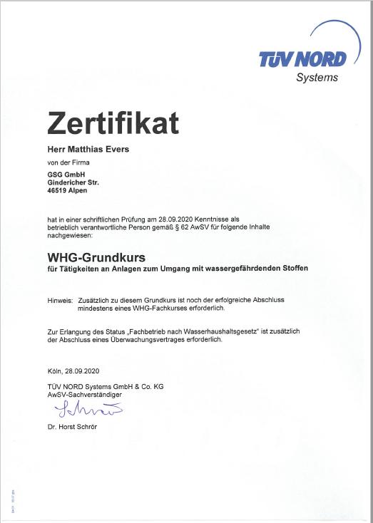 WHG-Grundkurs